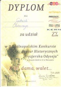 II Ogólnopolski Konkurs Fryzur historycznych